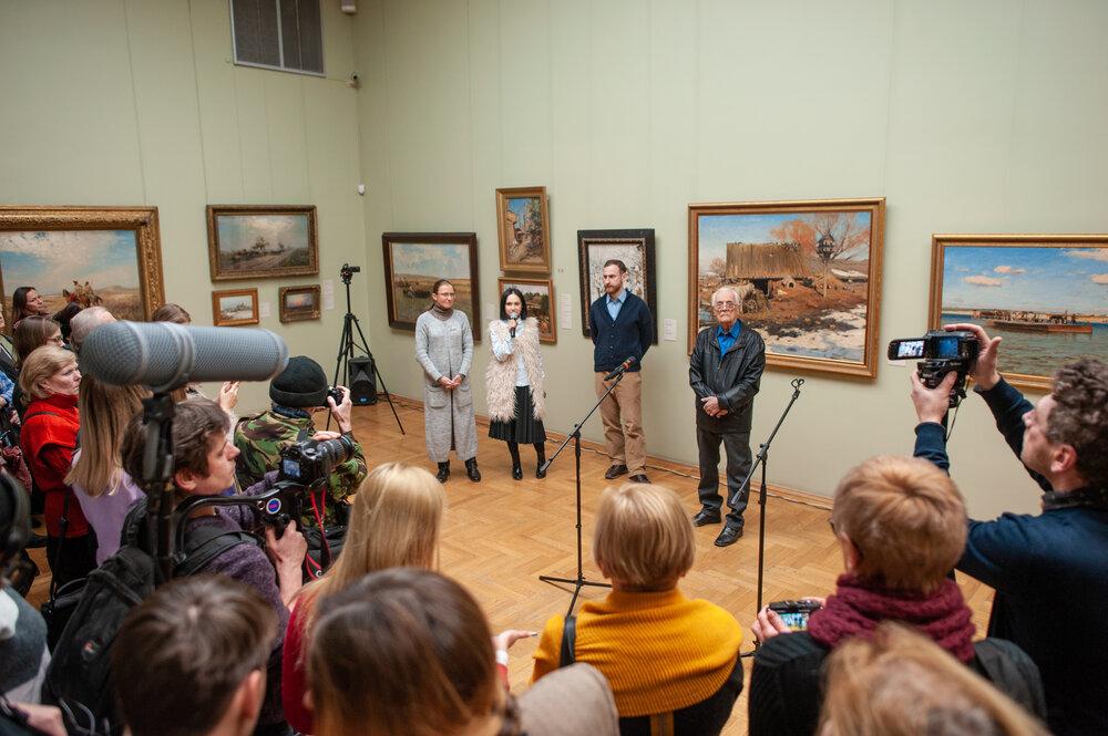 Відкриття виставки «Флоріан Юр'єв. Modus Coloris Sintez», 2019 рік. Фото надане Олею Балашовою