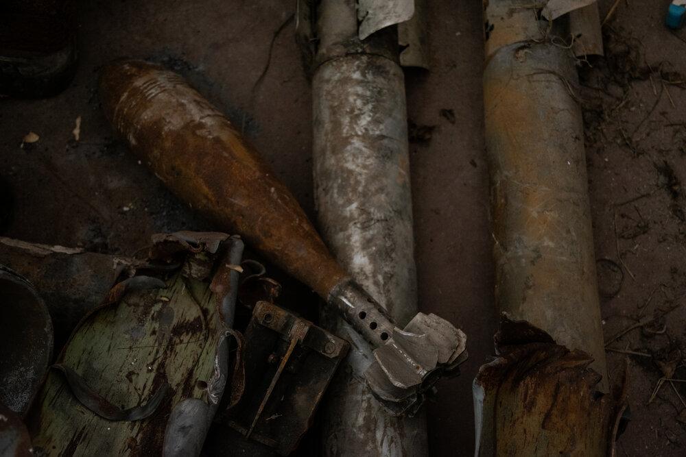 Експонати у фондосховищі Луганського обласного краєзнавчого музею