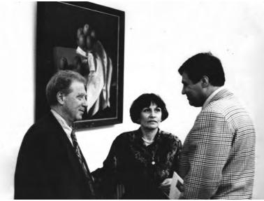 Зліва на право: Фелікс Кохрит, Маргарита Жаркова, Георгій Котов, «ТИРС», 1990-ті, надано МСМО